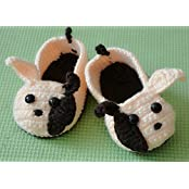 Hand-knit Wool Long Ears Cartoon Baby Toddler Baby Shoes Soft Soled Shoes Double Sole One Hundred Days Baby Shoes...