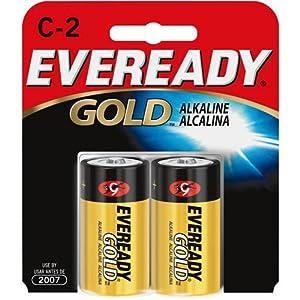Amazon.com: Energizer A93BP-2 Eveready Gold C Battery (2