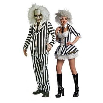 Couples Fancy Dress Mr & Mrs Beetlejuice Halloween Party ...