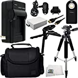 Essential Accessory Kit For Canon EOS Rebel T2i T3i T4i T5i. Includes Replacement LP-E8 Battery + AC/DC Rapid Home & Travel Charger + Wireless Remote + Full Size Tripod + Pistol Grip/Table Top Tripod + Mini HDMI Cable + Carrying Case + Microfiber Clea