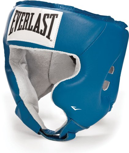 Everlast Amateur USA Boxing Headgear with Cheeks-Blue-XL