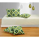 Swayam Drape And Dream Printed Cotton 5 Piece Cushion Cover Set - Green (CC125-1408 )