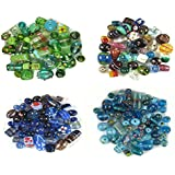 Eshoppee Loose Glass Beads For Jewelery Making And Home Decoration 400 , 150 Beads Approx