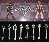 Kingdom Hearts II 8 KEYBLADE PENDANT SET Sora Necklace
