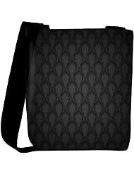 Snoogg Abstract Black Pattern Design Designer Womens Carry Around Cross Body Tote Handbag Sling Bags