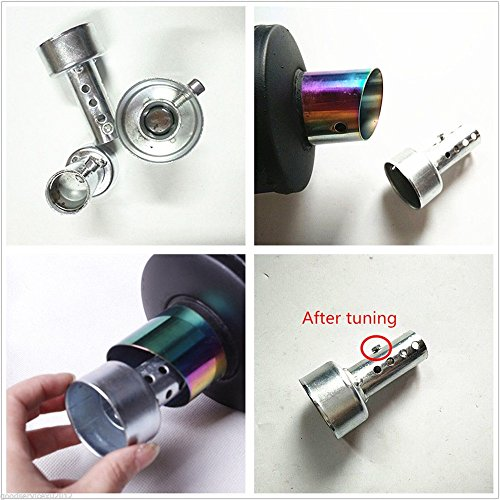80mm Chrome Motorcycles Scooter Adjustable Exhaust Pipe DB Killer Muffler Silencer Tool