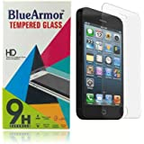 BlueArmor HD Clear Tempered Glass Screen Guard Protector For Iphone 5 5s 5c
