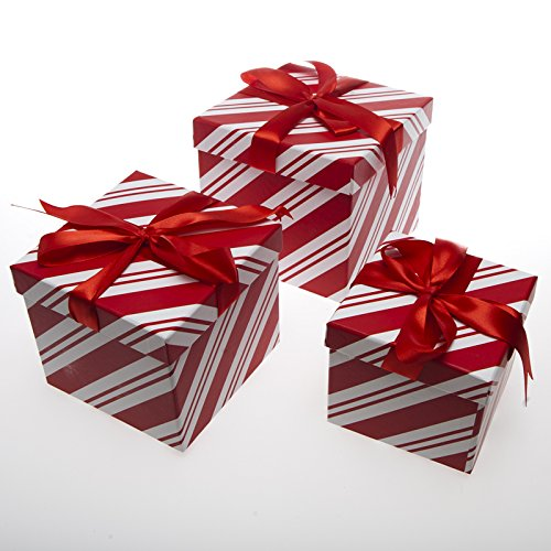 piece candy cane gift boxes - Decorative Boxes With Lids