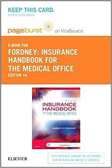 Insurance Handbook for the Medical Office - Elsevier E