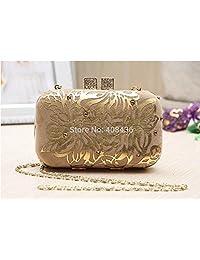Party Wedding Glitter Chain Clutch Case Box Fashion Woman Bags Gold Diamond Ladies Handbags Purse Wallet