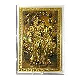 ESHYL Radha Krishna Pure 24K Gold Plated Foil Frame- 12 X 16.5 Cm, Gold