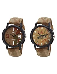 Relish Black Analog Round Casual Wear Watches For Men - B019T7L35K