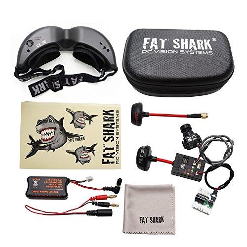 FatShark Teleporter V5 FPV 5.8G Video Goggles W/ Head Tracking (Transmitter and 700L CMOS Camera Included) Fat Shark FSV1088 RTF FPV KIT