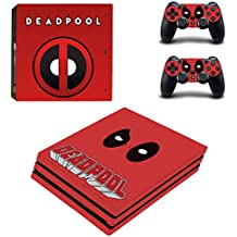 Hytech Plus Deadpool Super Edition Theme Sticker For PS4 PRO Console & 2 Controllers