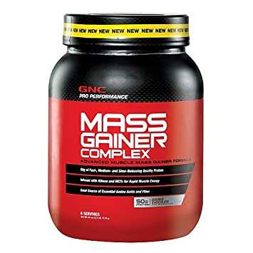 GNC Pro Performance Mass Gainer Complex, Double Chocolate, 2.5 lbs