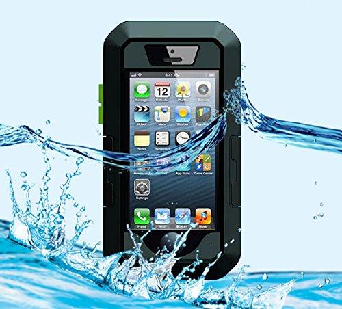 【K&W】iPhone用強い防水ケース Waterproof case for iPhone 5 5S 5C ストラップ 腕用ベルト 自転車マウントホルダー付き 耐衝撃・防滴・防振・防塵機能を持つ IPX8 防水保護等級 シースルー防水ケース ブラック