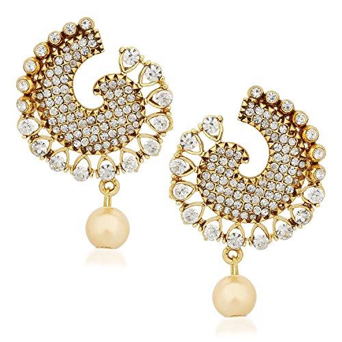 14b3abdc1dcfb YouBella Traditional Gold Plated Jewellery Pearl Jhumka / Jhumki ...