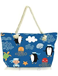 Snoogg Marine Pattern 2878 Women Anchor Messenger Handbag Shoulder Bag Lady Tote Beach Bags Blue