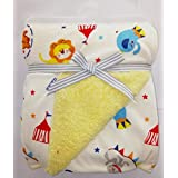 Carter Baby Blanket - Colorful Baby Blanket, Warm And Cozy, Extra Soft Fleece Blanket 102 X 76 Cm (Wht\Lion)