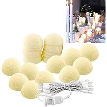Alcoa Prime 20 Aladin LED Romantic Cotton Ball Gorgeous String Light Ivory White Party Christmas Tree Decor Decoration 3M