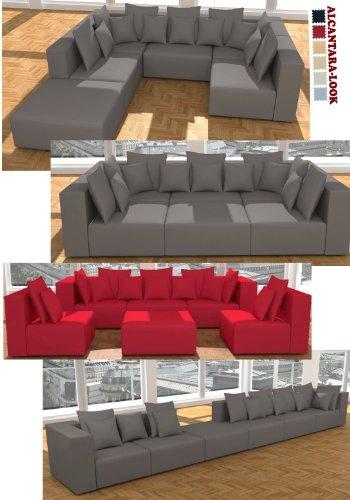 ::: MODELL HOLLYWOOD: DESIGNER WOHNLANDSCHAFT: 6 LUXUSTEILE + 14 KISSEN NEU! in 6 Farben ALCANTARA LOOK zur Auswahl > KOSTENLOSER VERSAND in AT & DE ! > BERATUNG: Tel: 0043(1)715-16-16, (Mo. bis Fr. 9.30 bis 15 Uhr) oder E-Mail: office.at@vienna-international-furniture.com :::