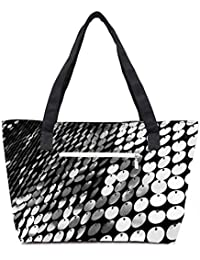Pack Of 2 Multiple Disc Combo Tote Shopping Grocery Bag With Coin Pencil Purse