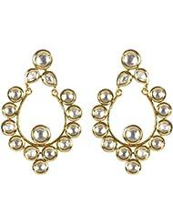 MUCHMORE Beautiful Clear White Kundan Earrings For Women Wedding Jewelry