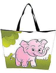 Snoogg Cute Big Elephant Background Waterproof Bag Made Of High Strength Nylon