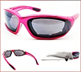 Pink Motorcycle Sunglasses Foam Padded for Women and Girls