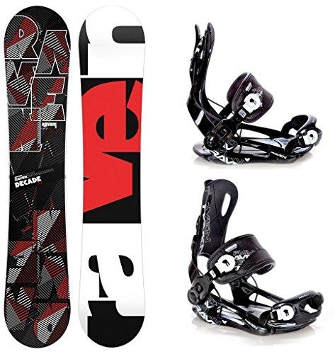 Snowboard Set: Snowboard Raven Decade Carbon + Bindung Raven Fastec FT270 Black L