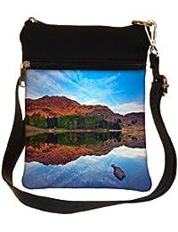 Snoogg Plain Water Cross Body Tote Bag / Shoulder Sling Carry Bag