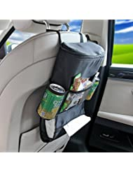 Glive's Multifunctional Car Seatback Thermal Cooler Bag Organizer Tissue Box Fabric Storage Hanging Bag Travel...