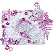 Renu's Fiber Rectangular Tray (32 Cm X 28 Cm X 32 Cm, Pink, R19)