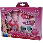 Disney Princess Dps8788 Best Friends Dress Up Hair Styling Set With Bracelets, Rings, And Hair Clips