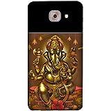 FUSON Designer Back Case Cover For Samsung J7 Max G615F/DS, Samsung Galaxy On Max, Samsung Galaxy J7 Max (Vinayaka Cultural Culture Ganesha Deity Devotion Beautiful Elephant)