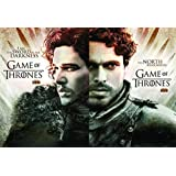 Wall Poster TV Show Game Of Thrones Jon Snow Kit Harington Robb Stark Richard Madden On Fine Art Paper 13x19