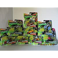 TMNT T-Machines, Set Of 8 (Ralph In Shellraiser,Leo In AT-3, Mickey In Patrol Buggy, Ralph In Monster Truck, Fishface...