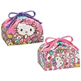 "Sanrio Hello Kitty Design Reusable 2 Lunch Bags A Pack (size: W11.5""x H6.5""x D4.75"")"