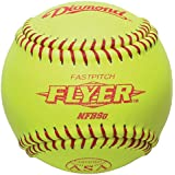 Diamond 12RFP .47 COR CL 12-Inch Leather Cover Fastpitch Softball (12-pack), 12-Inch/Optic Yellow