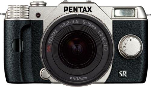 PENTAX+ミラーレス一眼+Q10+ズームレンズキット+[標準ズーム+02+STANDARD+ZOOM]+シルバー+Q10+LENSKIT+SILVER+12163