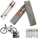 Generic Red : Bicycle Quick Release Titanium Lightest CNC Alloy MTB Quick Release QR Road Bike Skewers MTB Bearing...