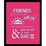 10 Am Friends Framed Wall Art (pink) (With Glass)