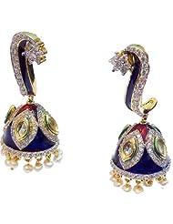 Elegant Elements Celebrity Royal Collection Cz Diamond Kundan Meena Earring For Women EEE33