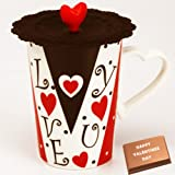 Valentine Gifts-Love Cup With Valentine Chocolate Bar