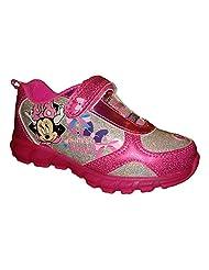 Disney Girls Sneaker Shoe Minnie Bowtique Pink Light Up
