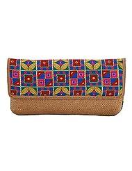 Craftstages Ethnic Designer Jute Sling Bag For Women (Material: Jute, Colour: Brown) - B00VREZL7K
