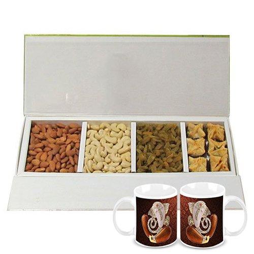 Chocholik Belgium Chocolates - Heavenly Treat Of Almonds, Cashew, Raisin And Baklava Box With Diwali Special Coffee... - B015RB5H7W