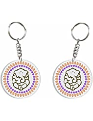 Ganesh Chaturthi Special 3 (Leaves Pattern) Key Chain By Iberrys