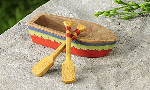 Miniature Fairy Garden Lakeside Rowboat with 2 Oars