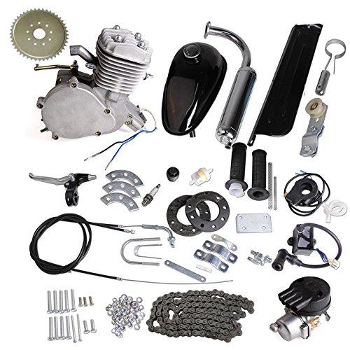 AURELIO TECH® 80cc 2-Stroke Motor Engine Kit Gas for Motorized Bicycle Bike Silver